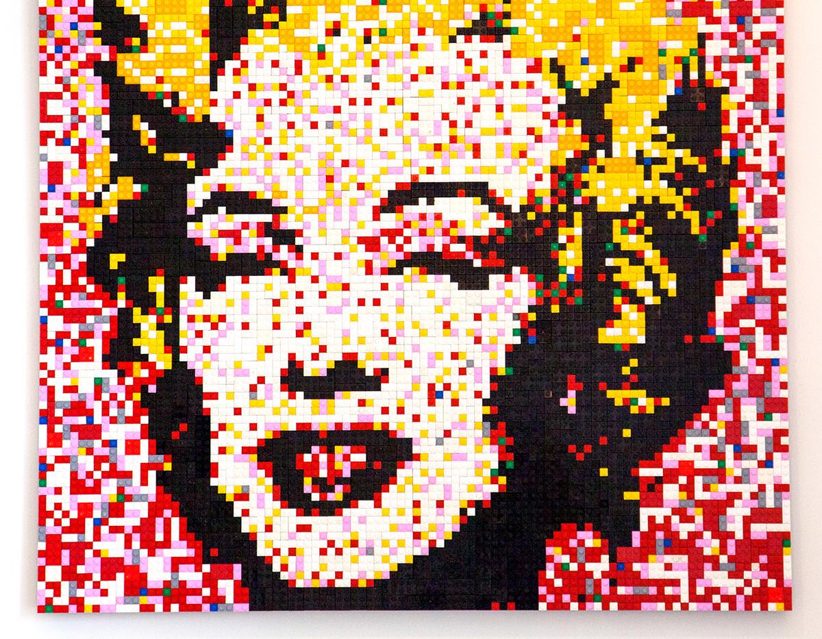 Warhol's Marilyn in Lego