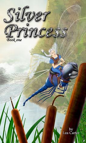 Fairy princess riding dragonfly.