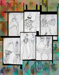Graduation collection research sketches
