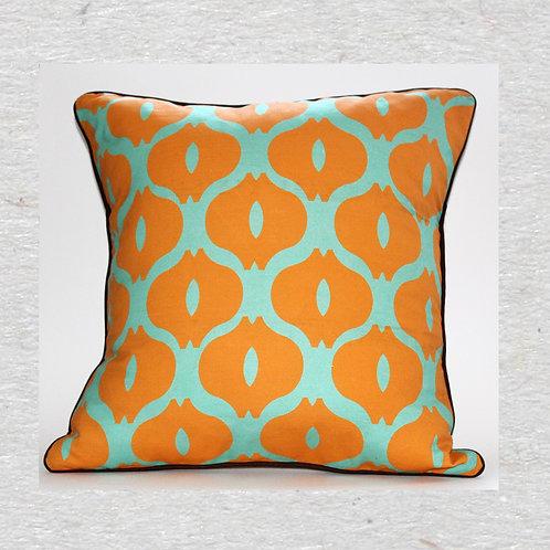Orange Bulbs Linen cushion cover