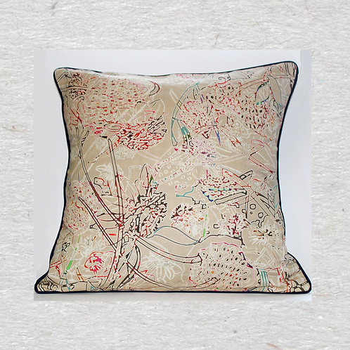 Secret Garden Linen Cushion cover
