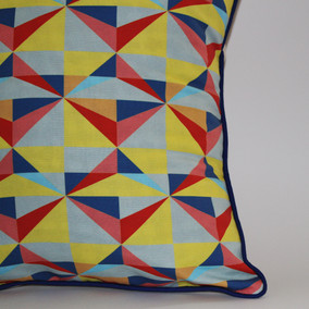 Neon facets Print Cushion Cover