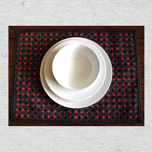 Red Grid place mats