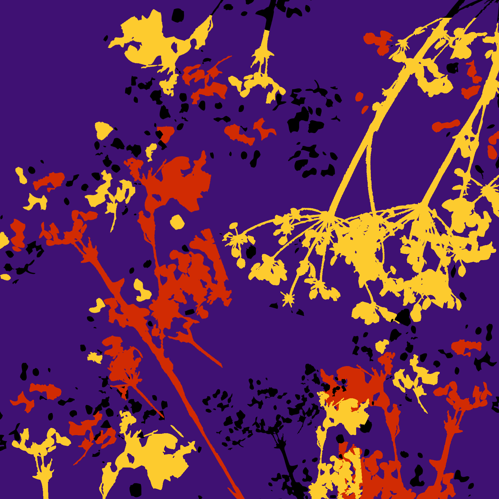 Indigo Autumn Print