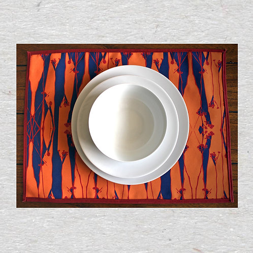 Autumn Blue Printed Place mats