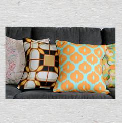 Orange bulb linen Pillow cover