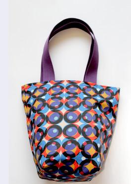 multi circle colour canvas mini tote