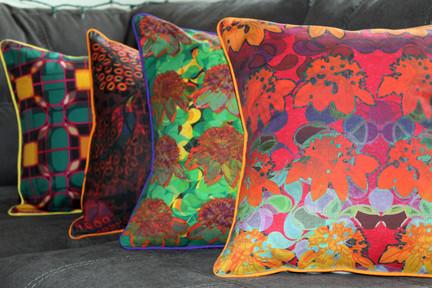 Rainforest print cushion cover