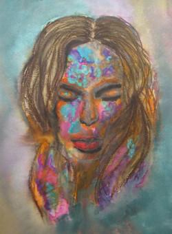 Pensive - Watercolour painting