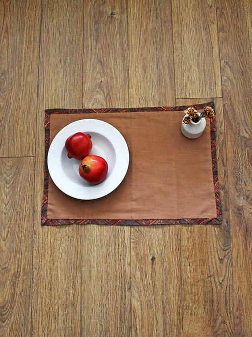 Moss Mudcloth detail Placemats - Set of 4
