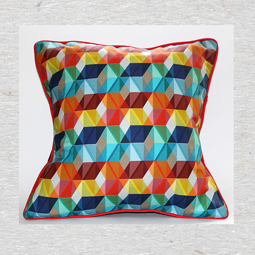 Colourful geometric Printed Pillow - Cushion Cover