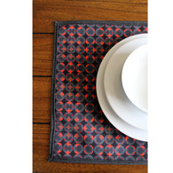 Red grid Placemat