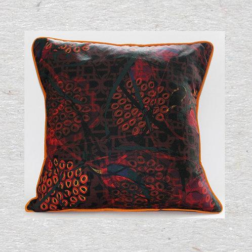 Noir secret garden Linen cushion cover