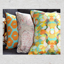 Yellow Paisley pillow cover