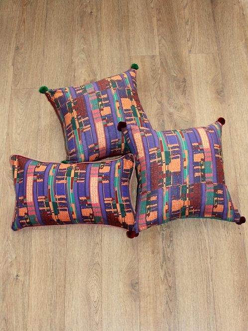 Purple kente
