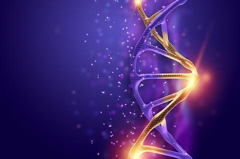 estrutura-de-dna-molecula-de-dna-dourada