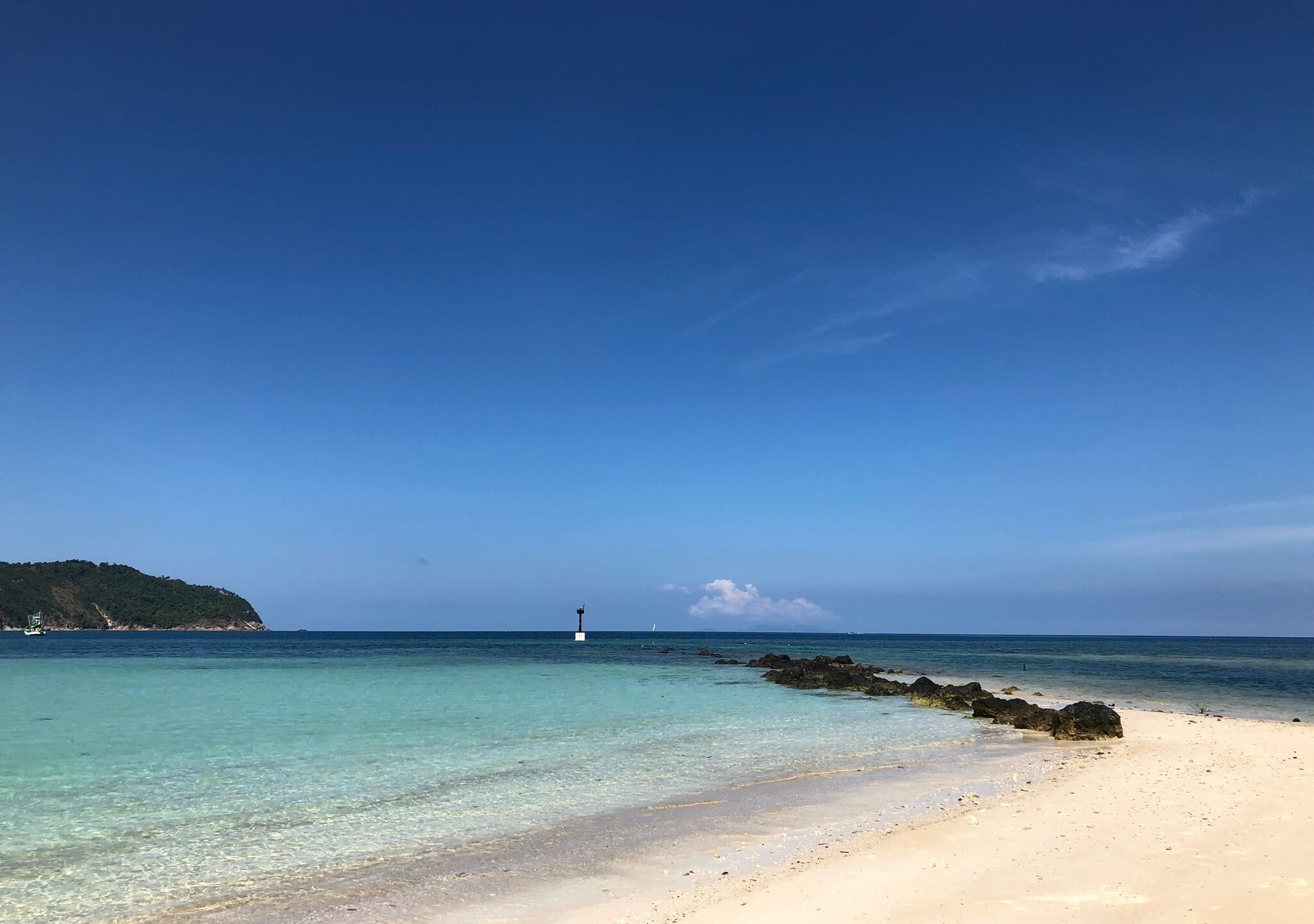 Beautiful beach with white sand and turquoise water
