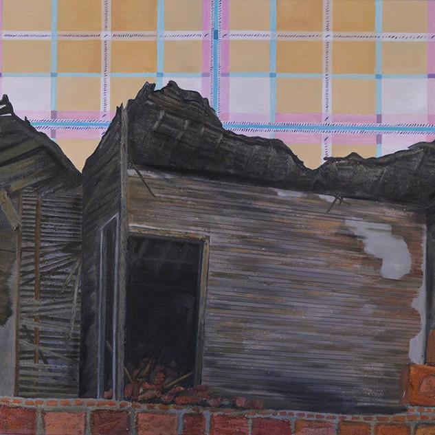 """Detroit Wrecks""  24 x 36 ,Oil on canvas"