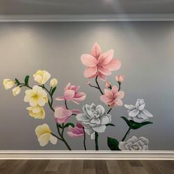 Magnolia Mural_ 6×10 ft