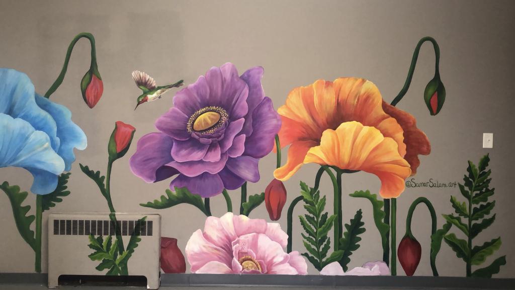 Poppy Mural_ 10×6 ft
