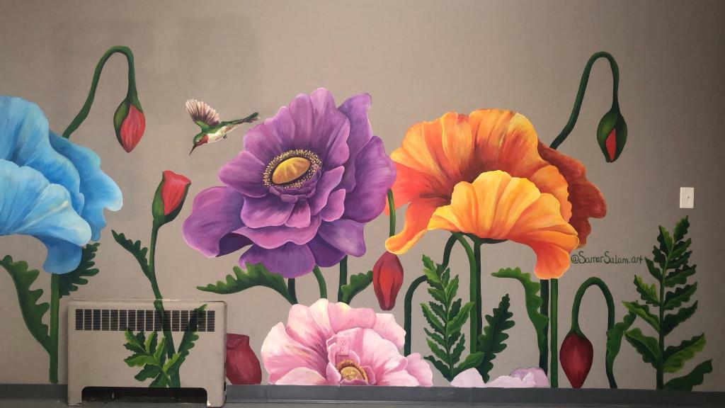 Poppy Mural/ 10×6 ft