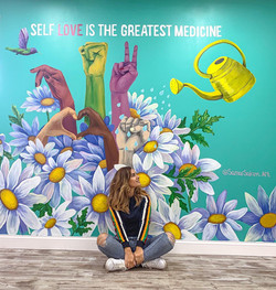 Self Love Mural_ 10×15 ft