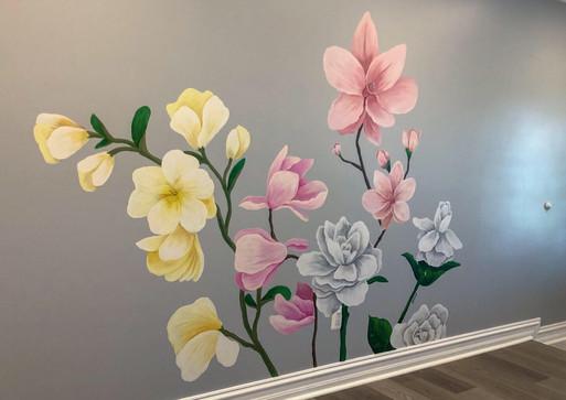 Magnolia Mural/ 6×10 ft