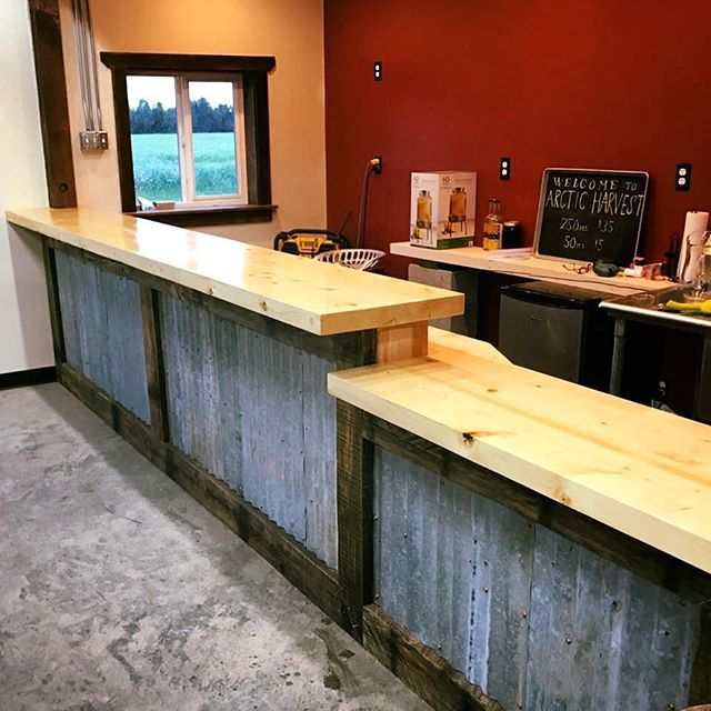 Our custom bar near completion.