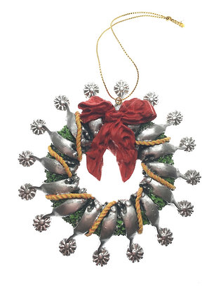 Silver Spur Ornament