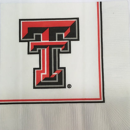 Texas Tech Beverage Napkin