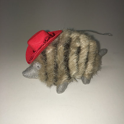 Cowboy Hat wearing Armadillo Ornament