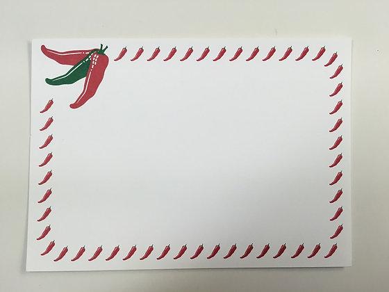 Chili Cluster Invitation Blank