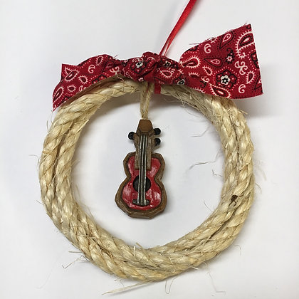 Rope Guitar Ornament