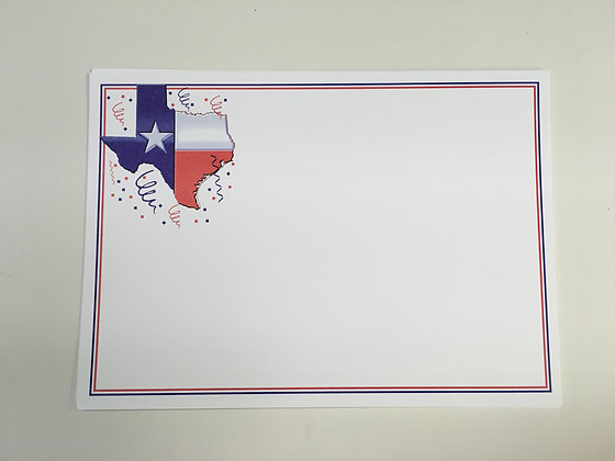 Texas Flag Celebration Blank Card