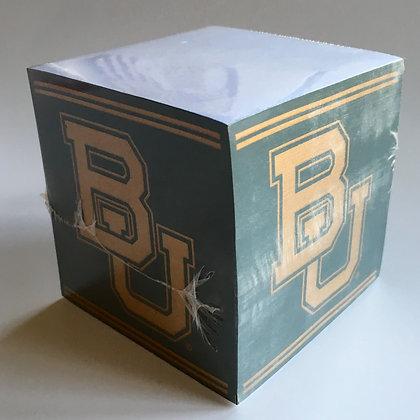 Baylor University Note Cube