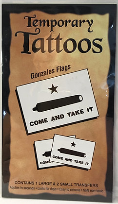 "Gonzalez ""COME AND TAKE IT"" Flag Tattoos"
