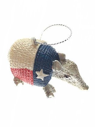 Armadillo Ornament Red, White, and Blue