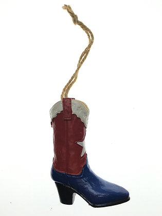 Cowboy Boot Christmas Ornament