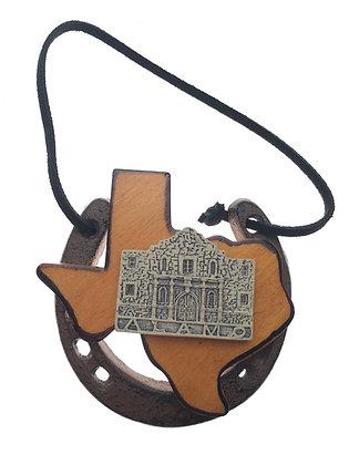 Horseshoe with Texas & Alamo Ornament