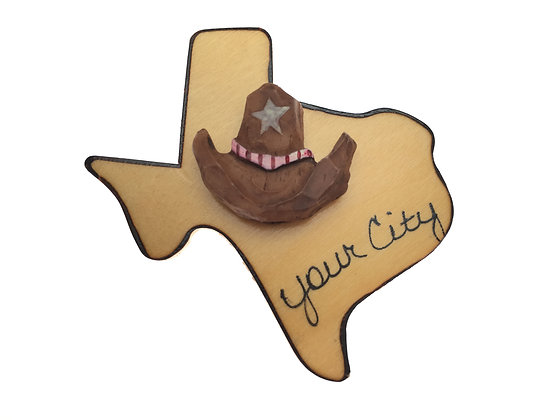 Cowboy Hat on Texas Magnet