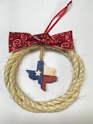 Rope Texas Flag Ornament