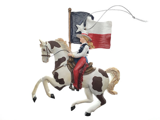 Pinto Pony w/ Texas Flag Ornament