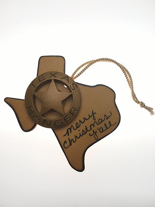 Texas Ranger Badge Ornament