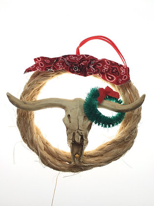 Rope Skull Ornament