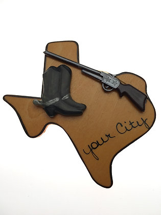 Rifle & Boots Texas Magnet