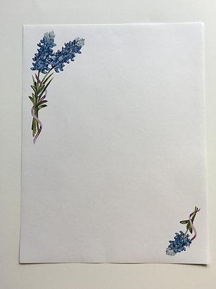 Bluebonnet Watercolor Stationary