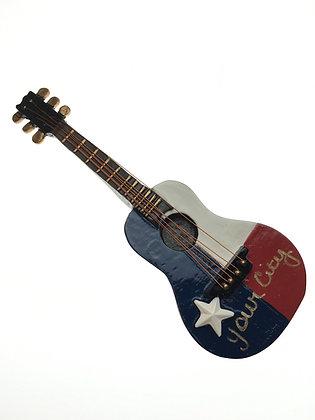 Texas Flag Guitar Magnet