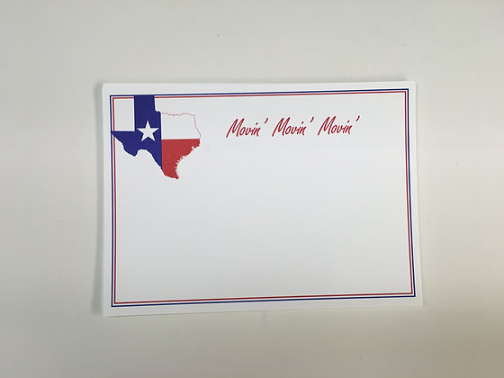 Texas Flag Change of Address Card Blank