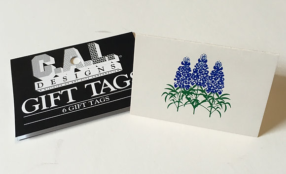 Bluebonnet Rectangle Gift Tag