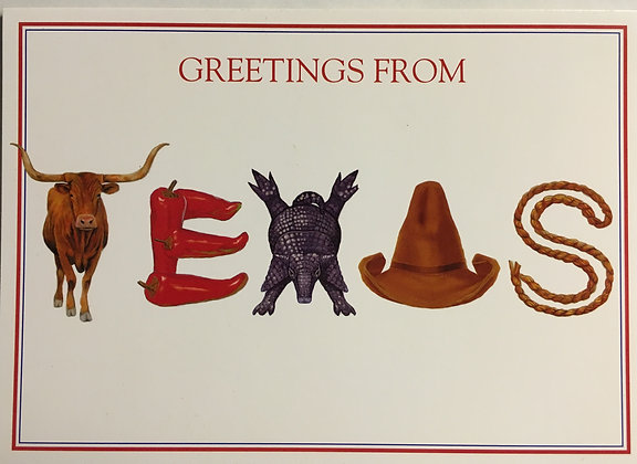Greetings from Texas Blank Card